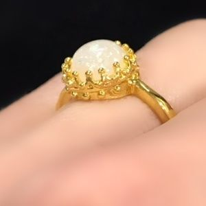 Jewelry - Yellow Gold-tone faux fire opal ring